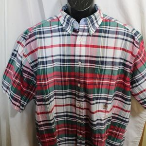 Tommy Hilfiger short sleeve button front shirt L